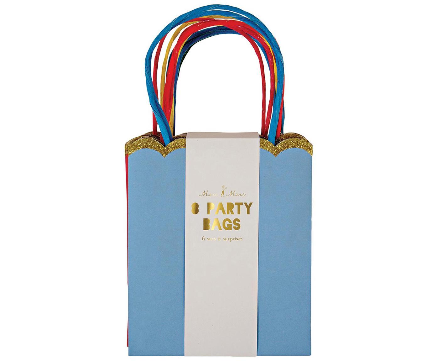 Busta regalo Jess, 8 pz., Carta, cartone, Multicolore, L 13 x A 23 cm