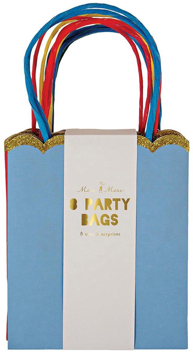 Geschenkzakken Jess, 8-delig, Papier, karton, Multicolour, 13 x 23 cm