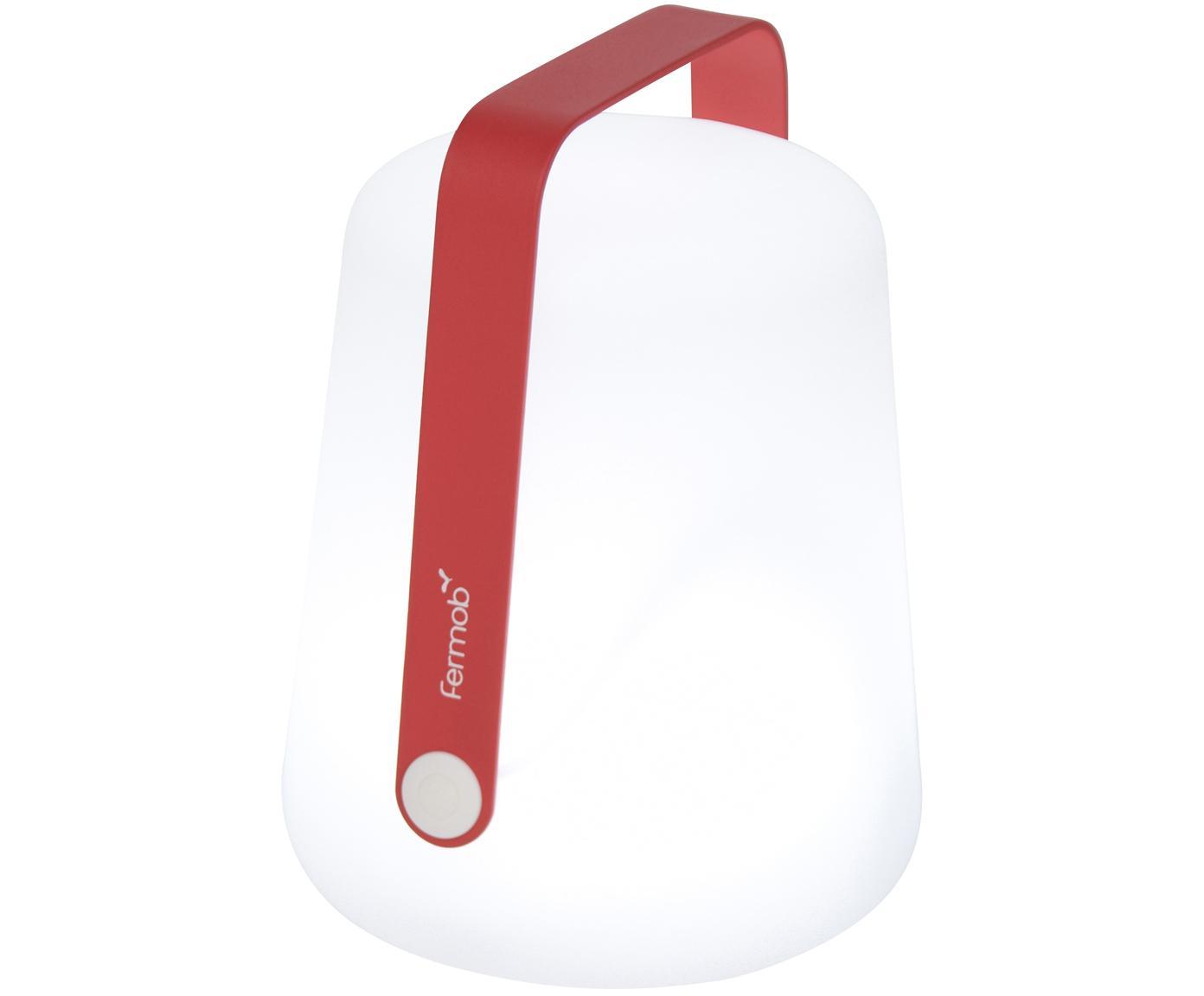 Lámpara LED de exterior Balad, portátil, Lámpara: polietileno, tratado para, Asa: aluminio, pintado, Rosa, Ø 19 x Al 25 cm