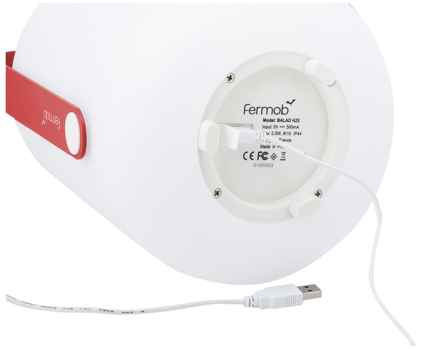 Zewnętrzna mobilna lampa LED Balad, Różowy, Ø 28 x W 38 cm