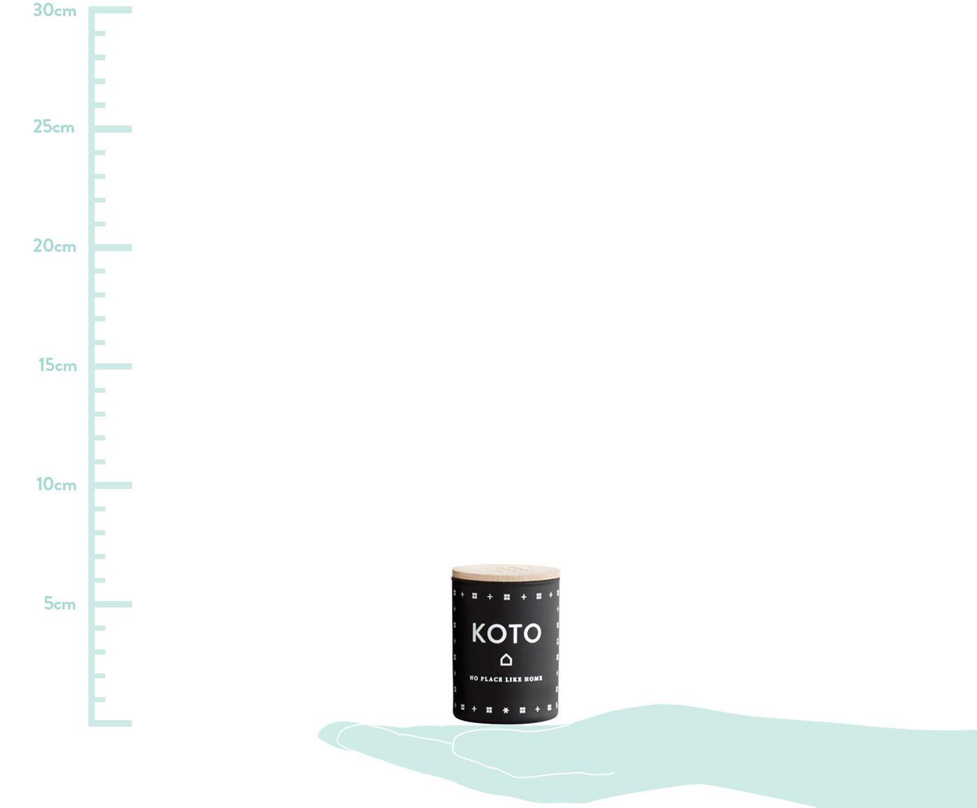 Duftkerzen-Set Hjem (Zitrus, Frisches Gras & Erdbeeren), 3-tlg., Behälter: Glas, Deckel: Buchenholz, Creme, Ø 4 x H 6 cm