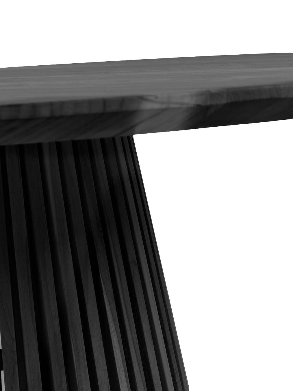 Tavolo rotondo in legno massello Jeanette, Legno, Nero, Larg. 120 x Alt. 78 cm