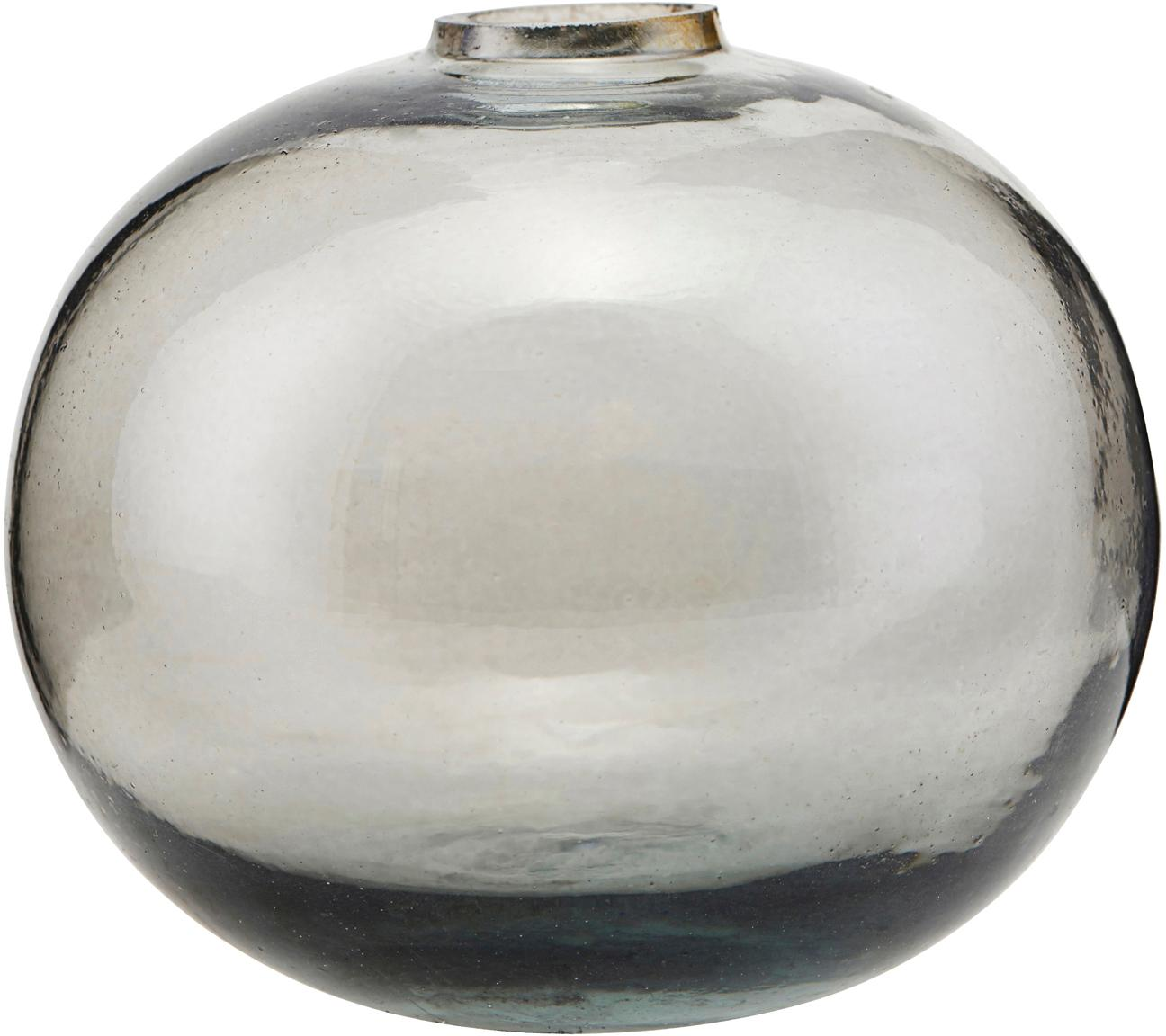 Glas-Vase Sandra, Glas, Grau, transparent, Ø 8 x H 7 cm