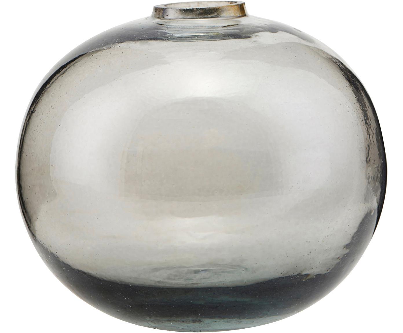 Vaso Sandra, Vetro, Grigio trasparente, Ø 8 x Alt. 7 cm