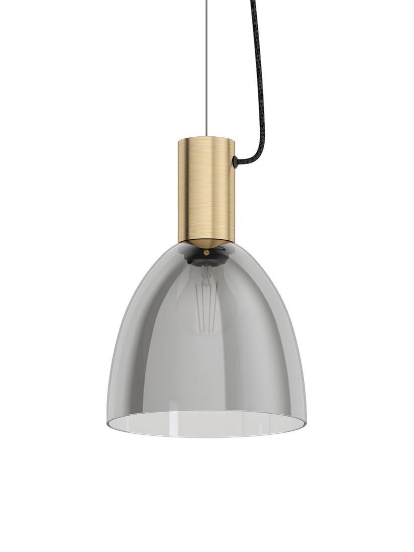 Mały lampa wisząca Lebalio, Szary, Ø 20 x W 110 cm