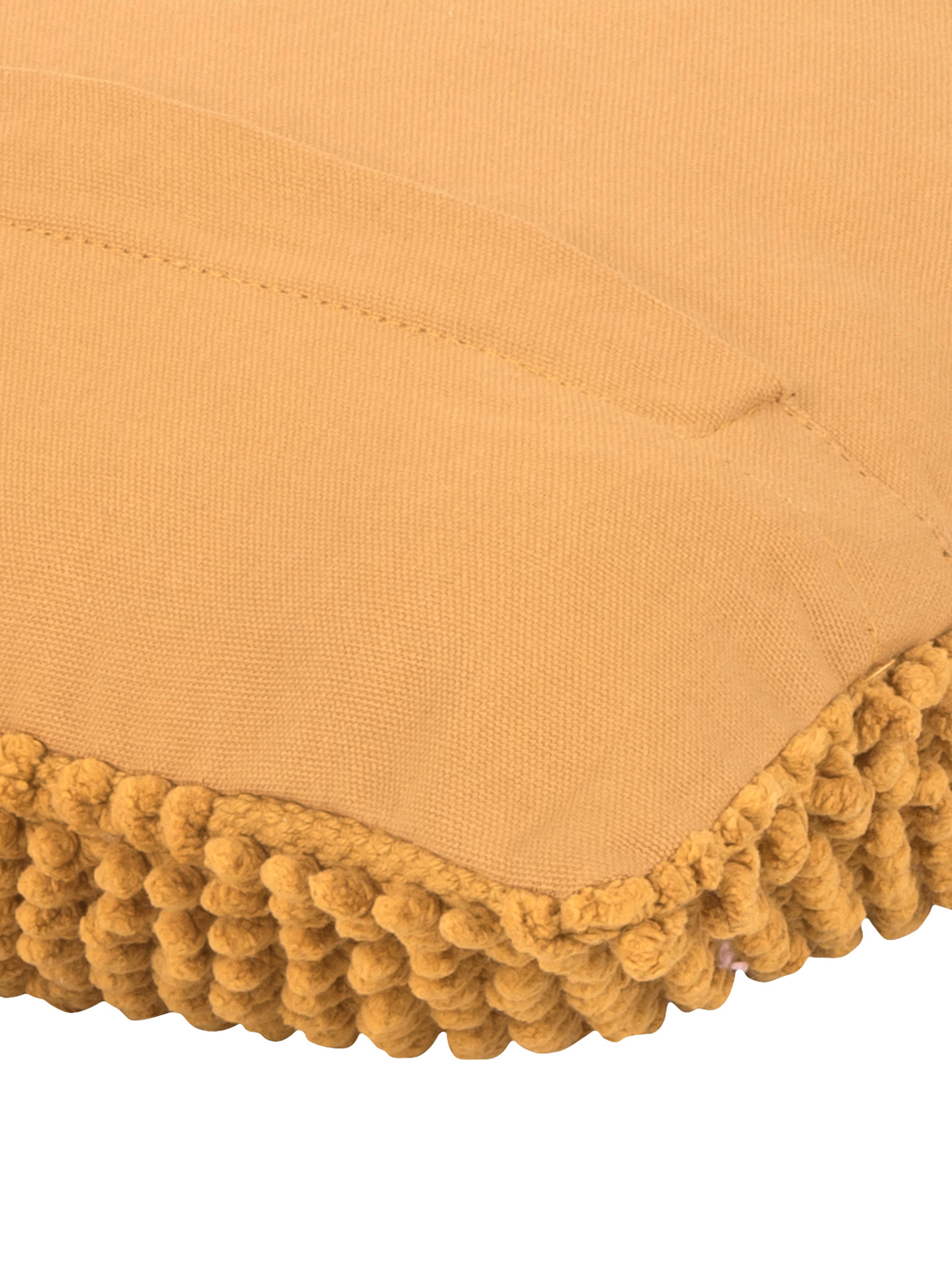 Kissenhülle Indi mit strukturierter Oberfläche in Senfgelb, 100% Baumwolle, Gelb, 45 x 45 cm