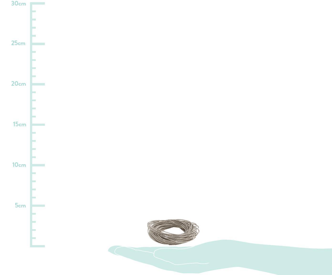 Serviettenringe Kerala, 4 Stück, Metall, Silberfarben, Ø 6 cm