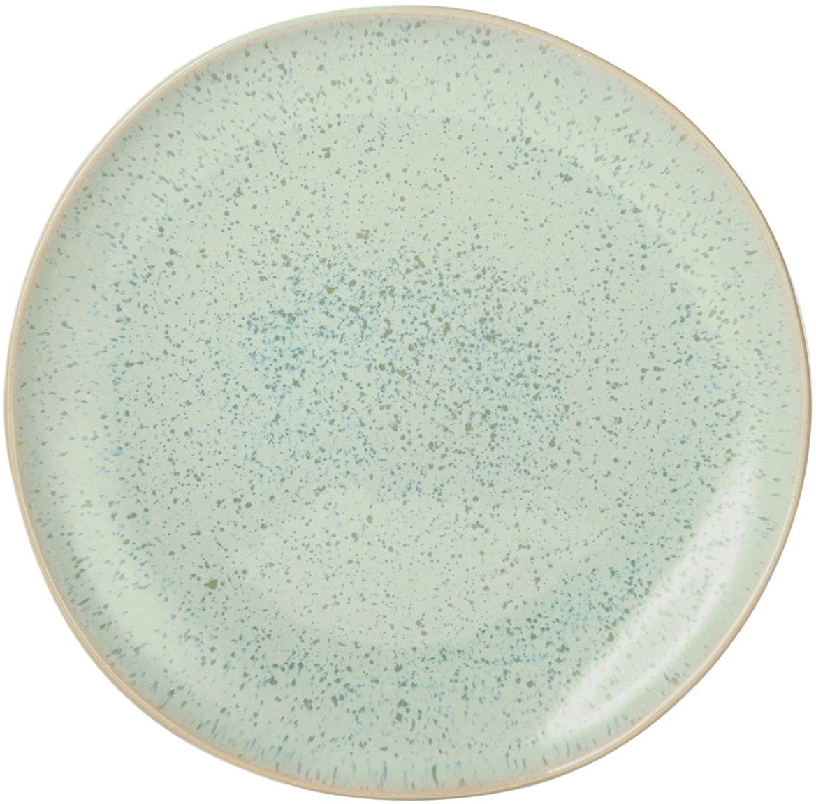 Platos postre artesanales Areia, 2uds., Gres, Menta, blanco crudo, beige, Ø 22 cm
