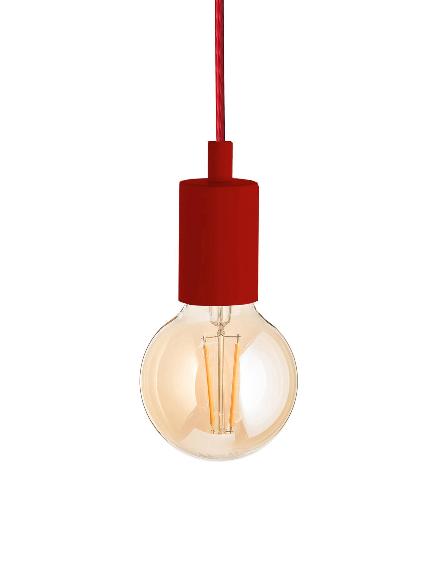 Lampada a sospensione Color, Rosso, Ø 5 x Alt. 6 cm