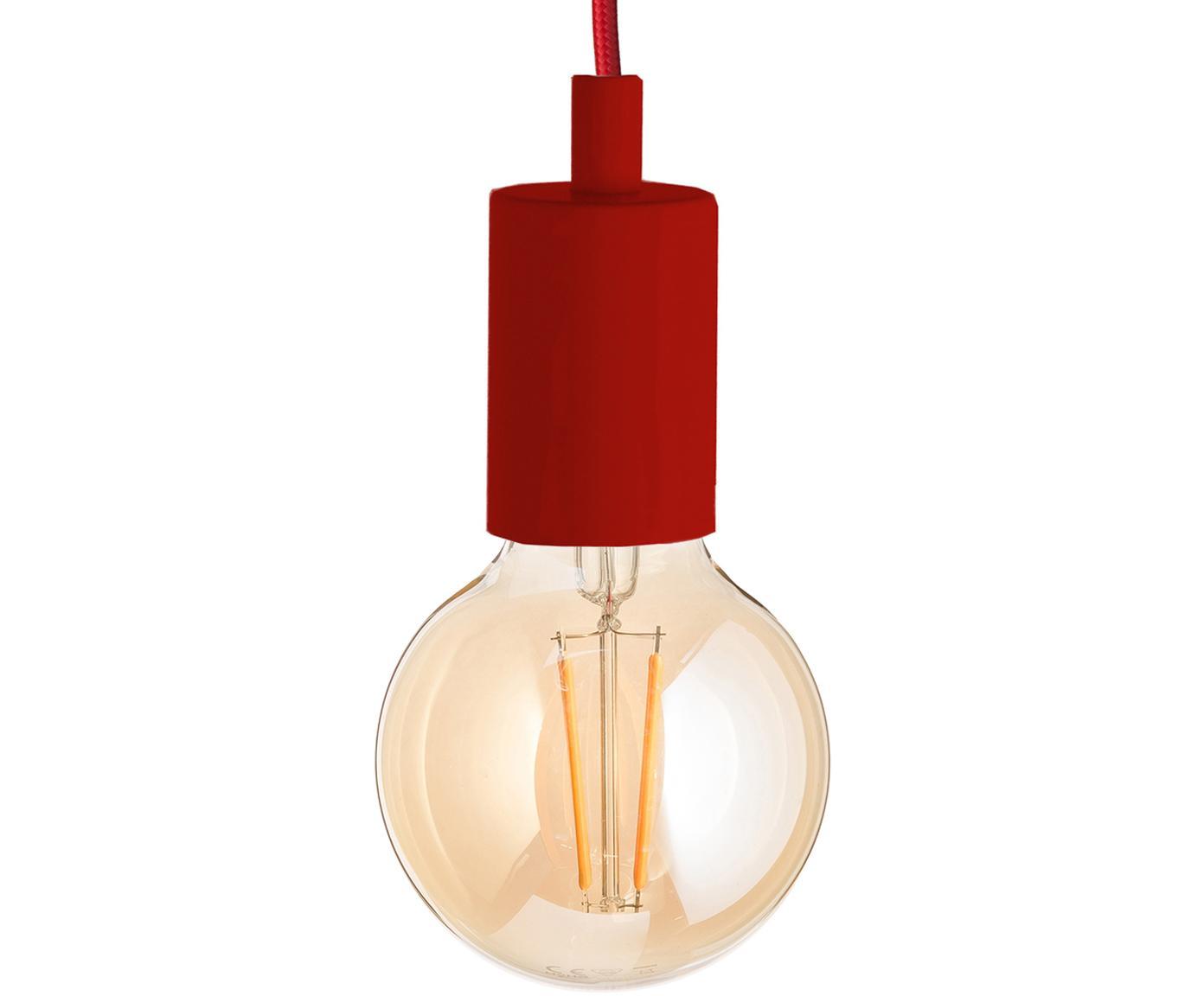 Snoerpendel Color, Rood, Ø 5 x H 6 cm