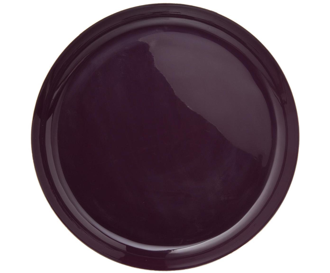 Set vassoi decorativi Minella, 3 pz., Metallo verniciato, Lilla, pink, rosa Bordo: dorato, Diverse dimensioni
