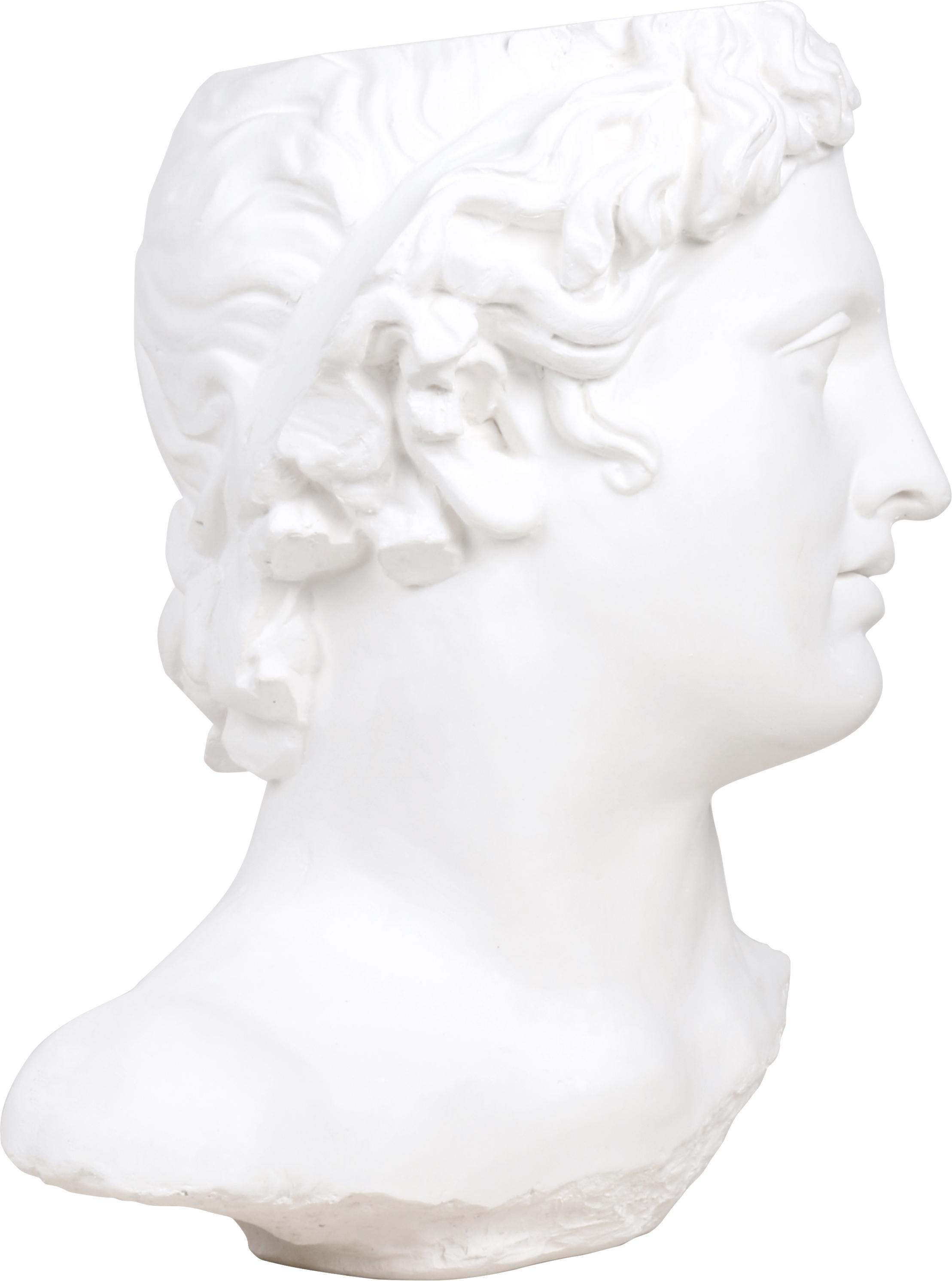 Decoratief object Apollo, Gips, Wit, 27 x 41 cm