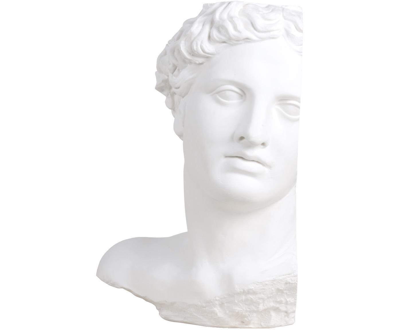 Deko-Objekt Apollo, Putz, Weiß, 27 x 41 cm