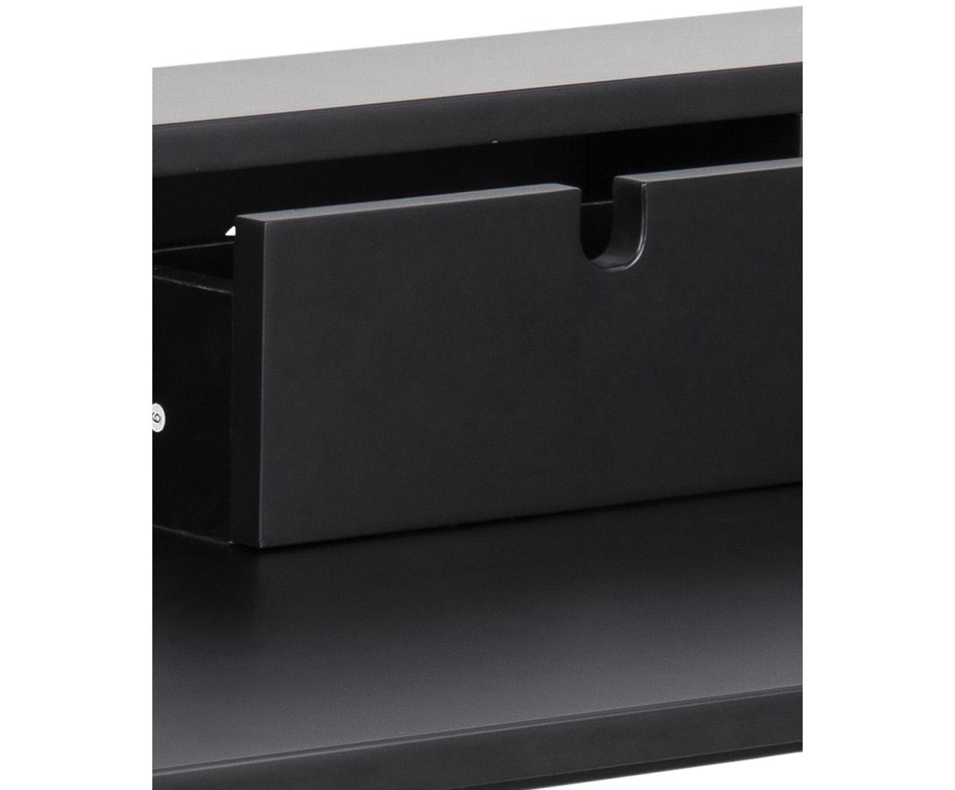 Scrivania con cassetto Pascal, Gambe: metallo, verniciato, Nero, Larg. 100 x Prof. 55 cm