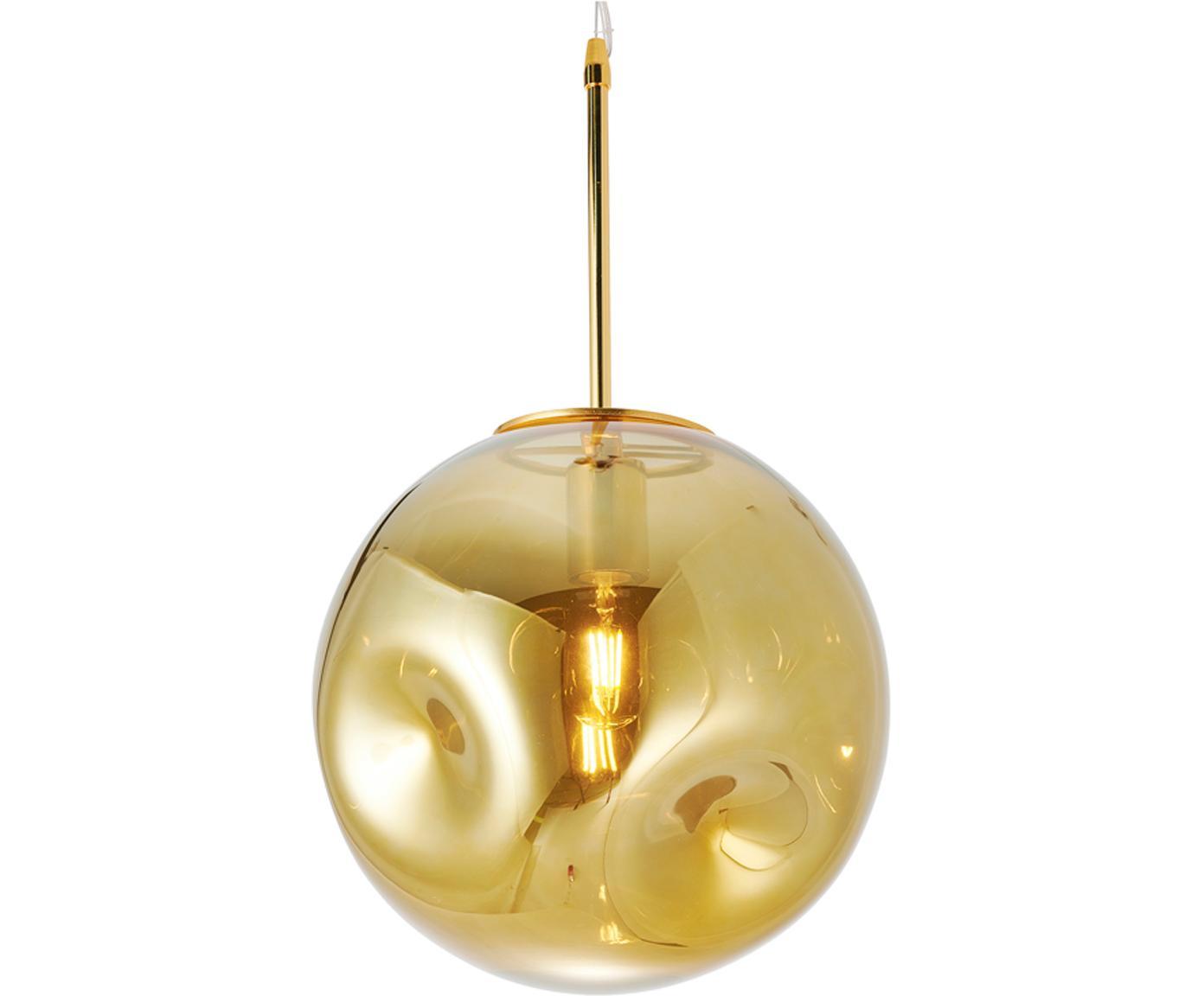 Lampada a sospensione Blown, Metallo, materiale sintetico, vetro, Dorato, Ø 30 x Alt. 30 cm