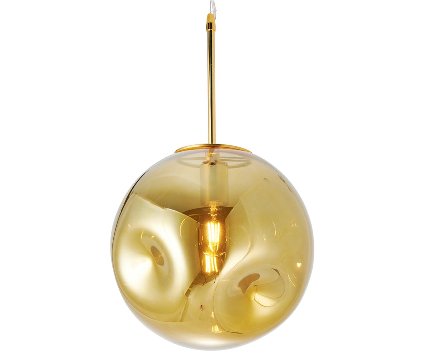 Pendelleuchte Blown aus Glas, Lampenschirm: Glas, Goldfarben, Ø 30 x H 30 cm