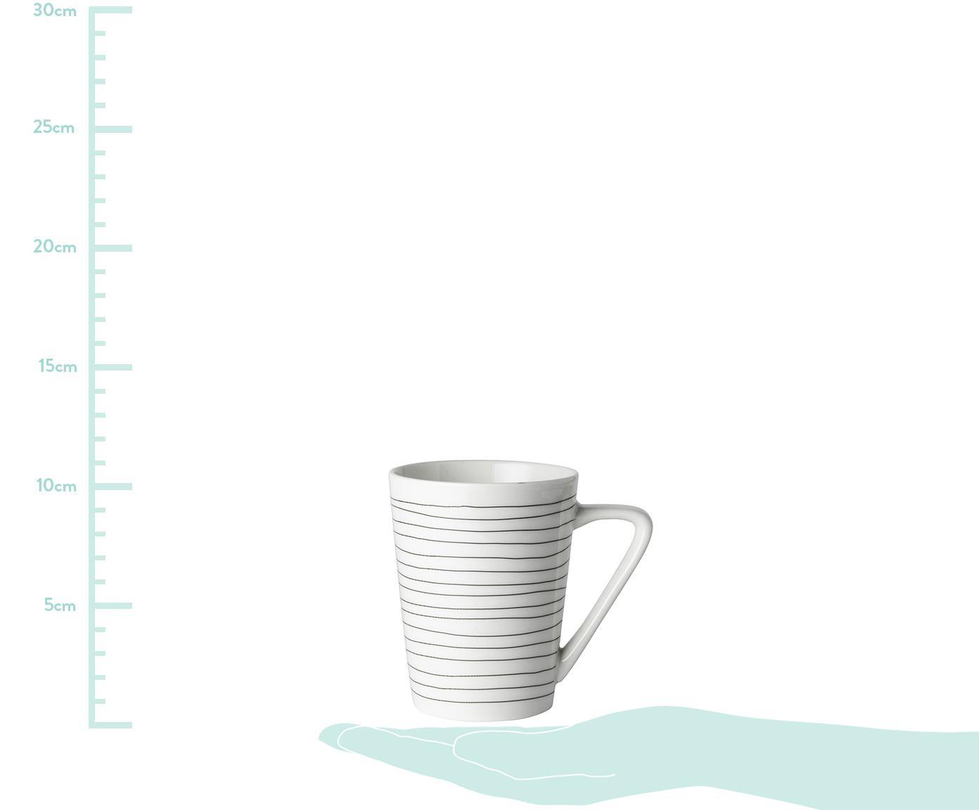 Tasses à thé Eris Loft, 4pièces, Blanc, noir