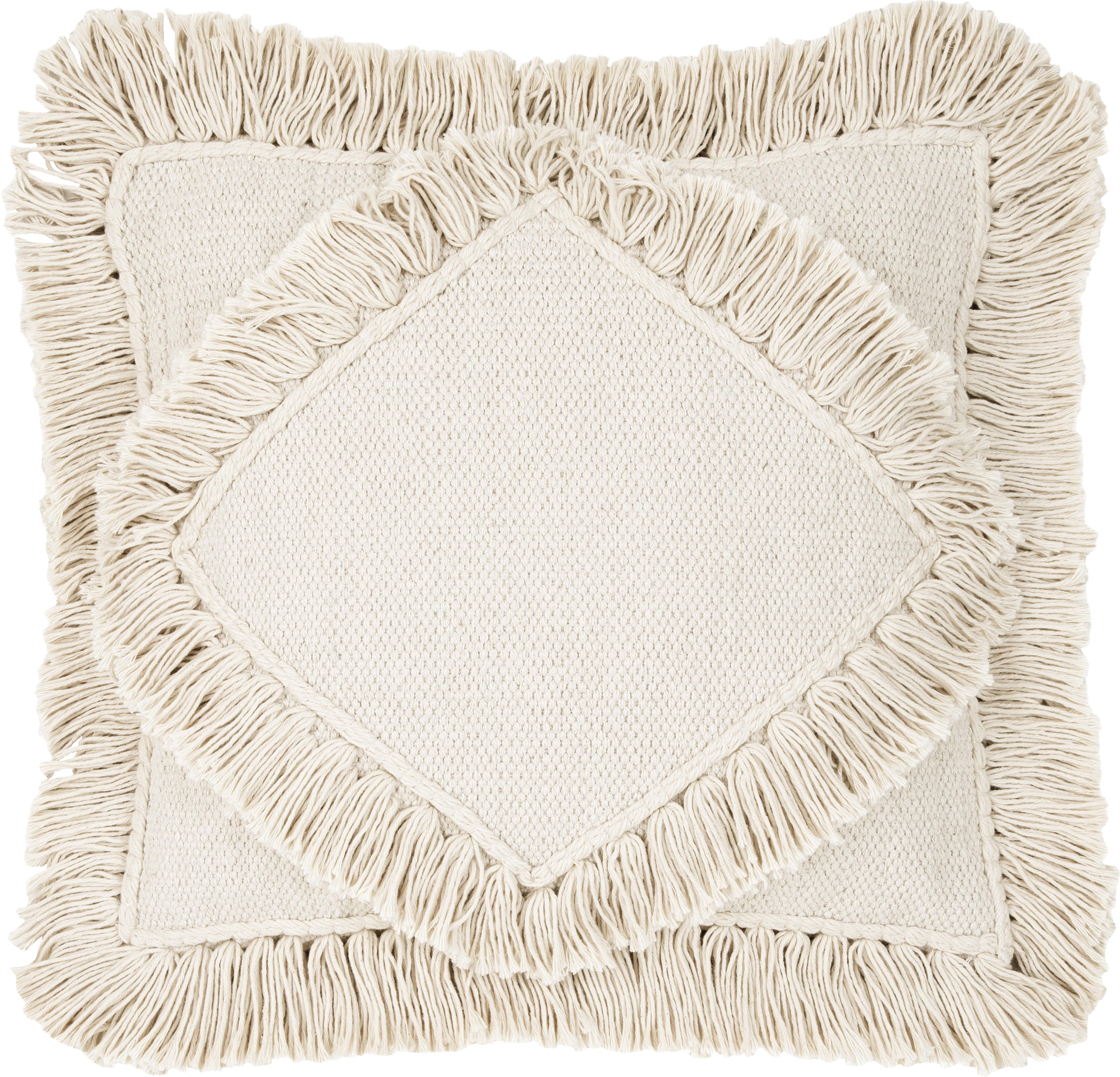 Funda de cojín Kaheka, 100%algodón, Crudo, An 45 x L 45 cm