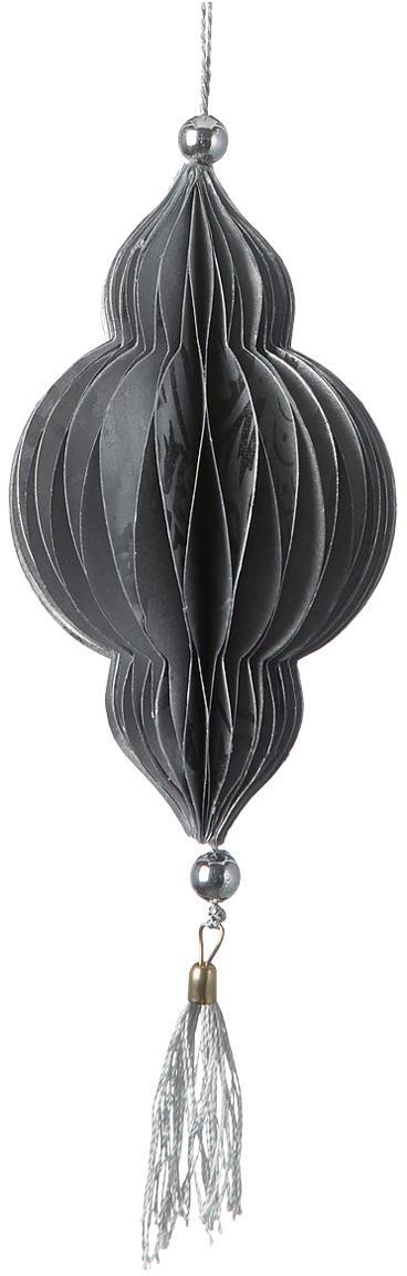 Baumanhänger Icilisse, 2 Stück, Grau, Silberfarben, Ø 6 x H 17 cm