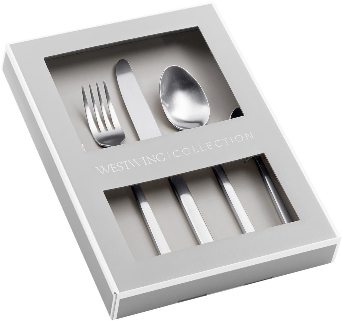 Zilverkleurige bestekset Shine van edelstaal, in verschillende maten, Edelstaalkleurig, 4 personen (20-delig)