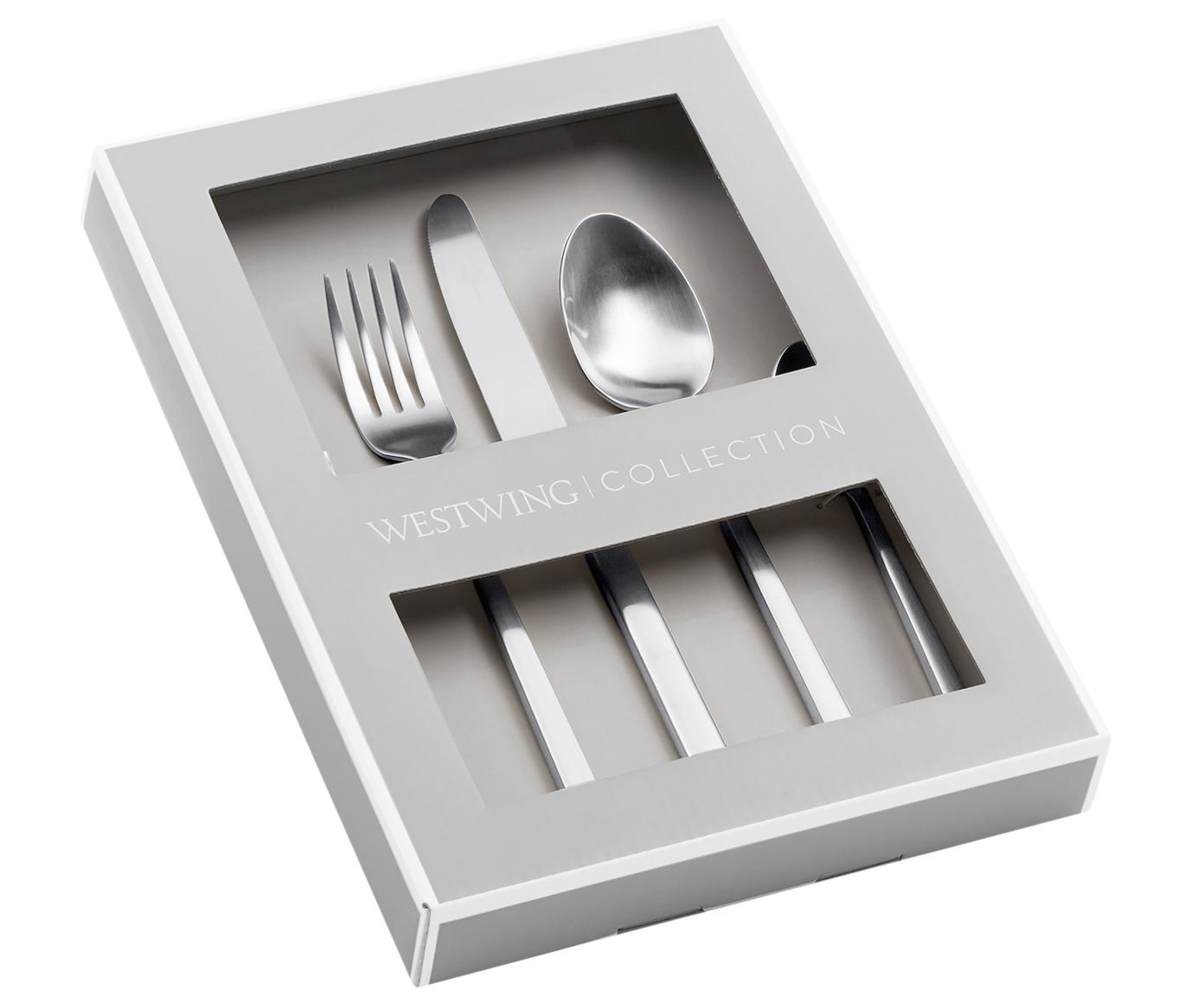 Set posate argentate in acciaio inossidabile Shine, Coltello: Acciaio inossidabile 13/0, Acciaio inossidabile, 4 persone (20 pz.)