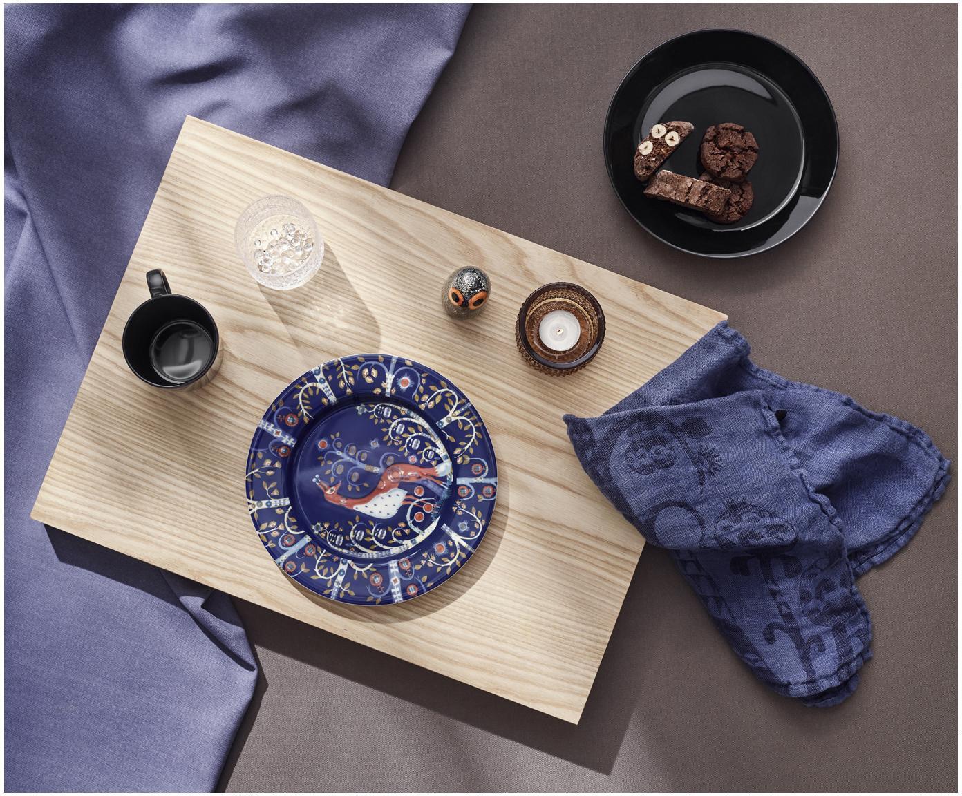 Piatto da colazione Teema, 6 pz., Porcellana vitro, Nero, Ø 21 x Alt. 3 cm
