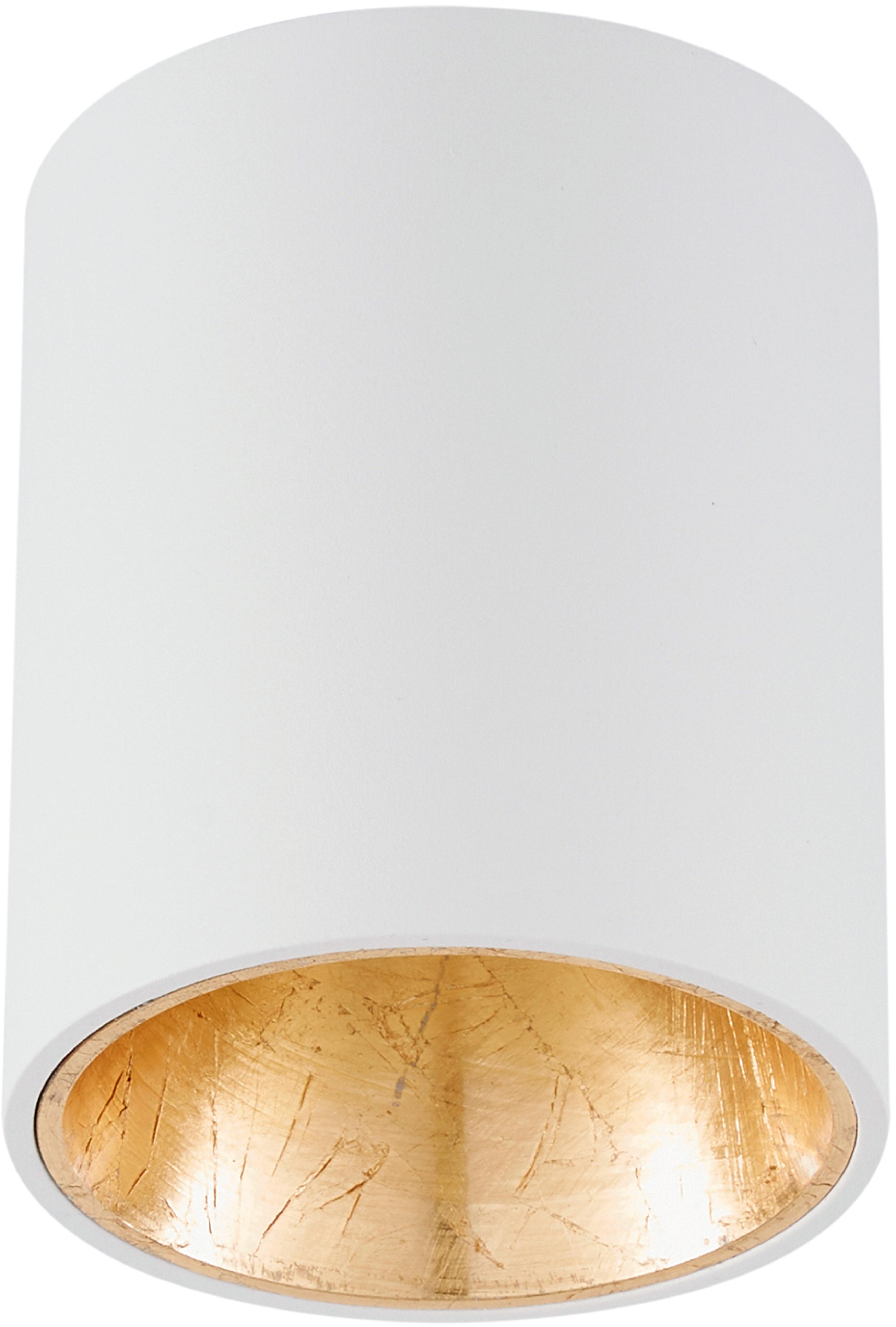 LED Deckenspot Marty, Weiss, Goldfarben, ∅ 10 x H 12 cm