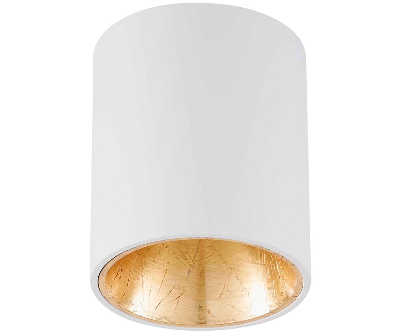 LED Deckenspot Marty, Weiß, Goldfarben, ∅ 10 x H 12 cm