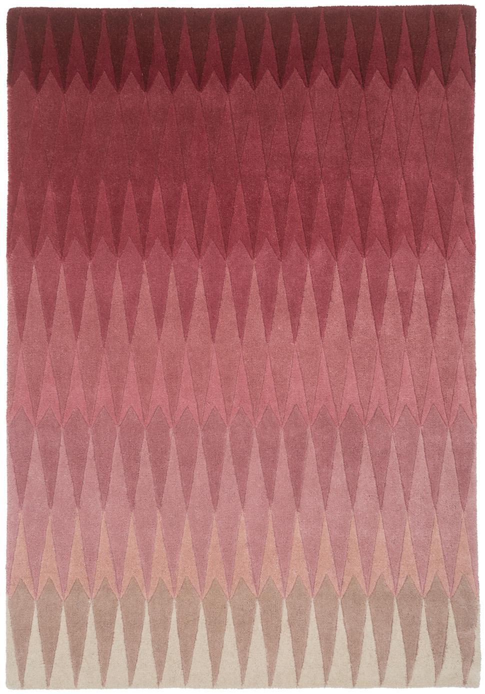 Handgetufteter Designteppich Acacia mit Farbverlauf in Pink, Pink, B 140 x L 200 cm (Größe S)