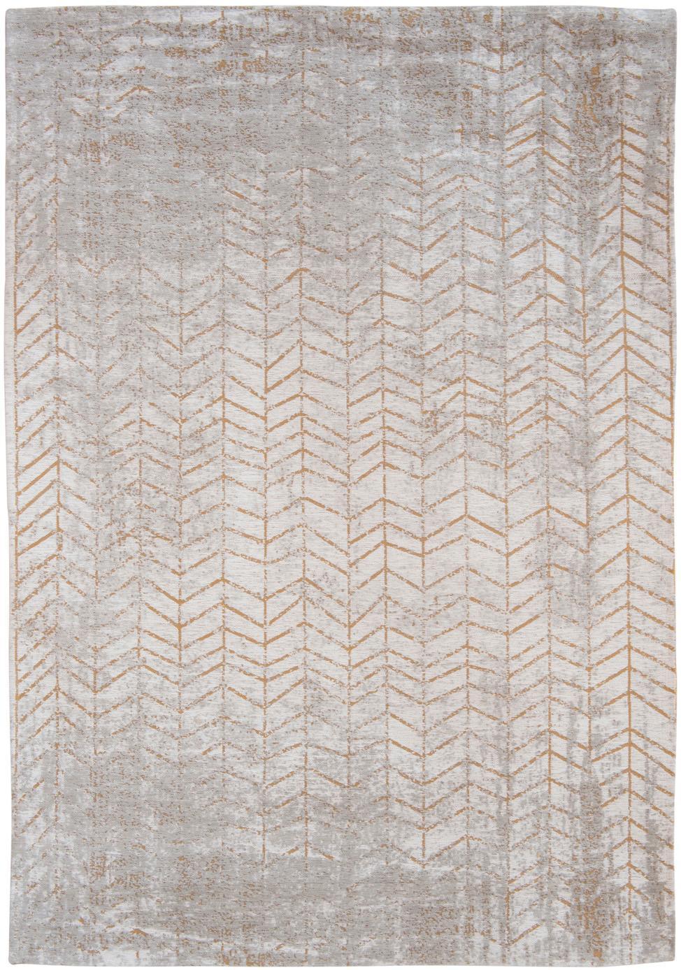 Alfombra J. Ladder, Parte superior: 85%algodón, 15%hilos de, Reverso: mezcla de algodón, recubi, Gris, blanco crudo, dorado, An 140 x L 200  cm(Tamaño S)