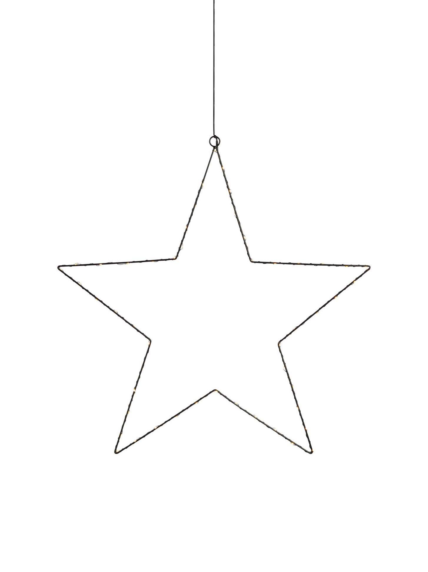 Estrella luminosa LED Nordgard, Metal pintado, Negro, Ø 60 cm