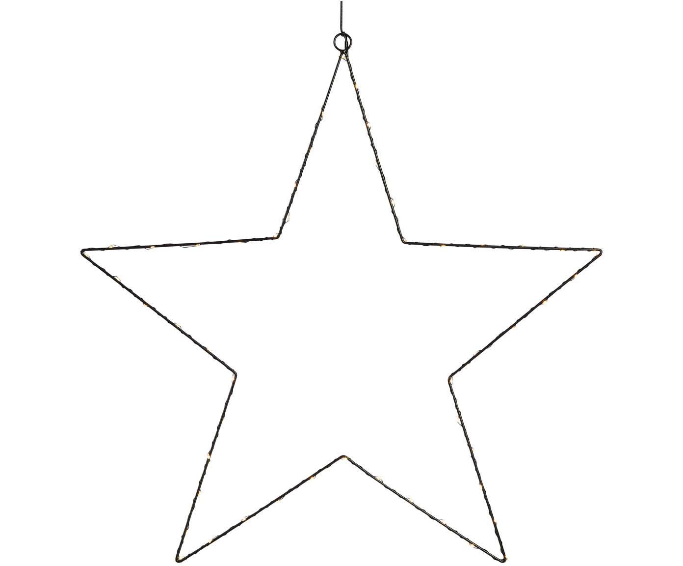 LED Leuchtobjekt Nordgard, Metall, lackiert, Schwarz, Ø 60 cm