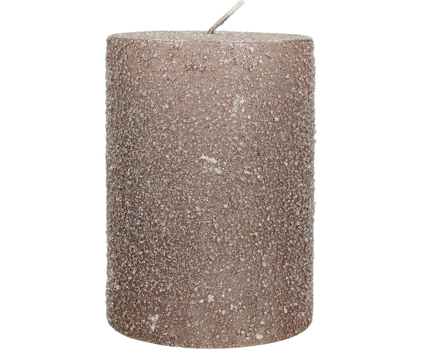 Stumpenkerze Flair, Wachs, Kupferfarben, Ø 7 x H 10 cm