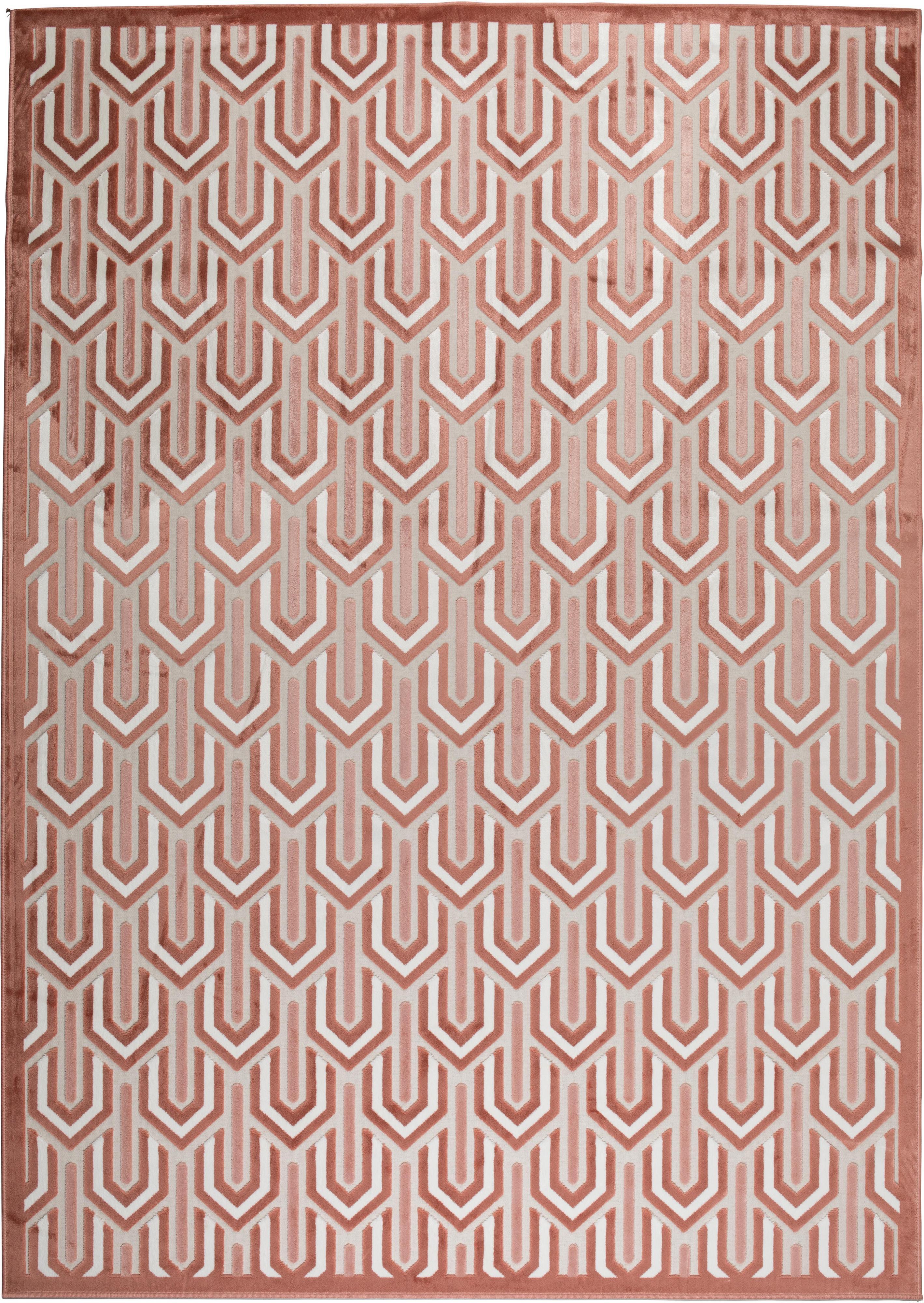 Dywan z wypukła strukturą Beverly, Blady różowy, brudny różowy, jasny beżowy, S 170 x D 240 cm