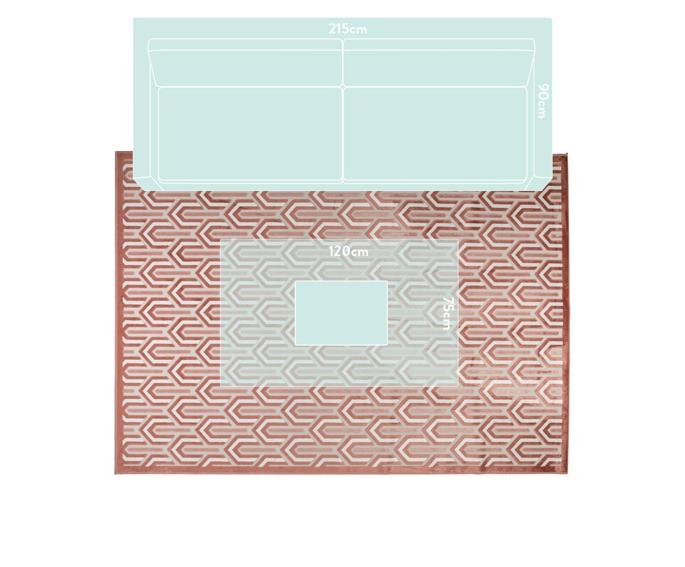 Dywan z wypukła strukturą Beverly, Blady różowy, brudny różowy, jasny beżowy, S 200 x D 300 cm (Rozmiar L)