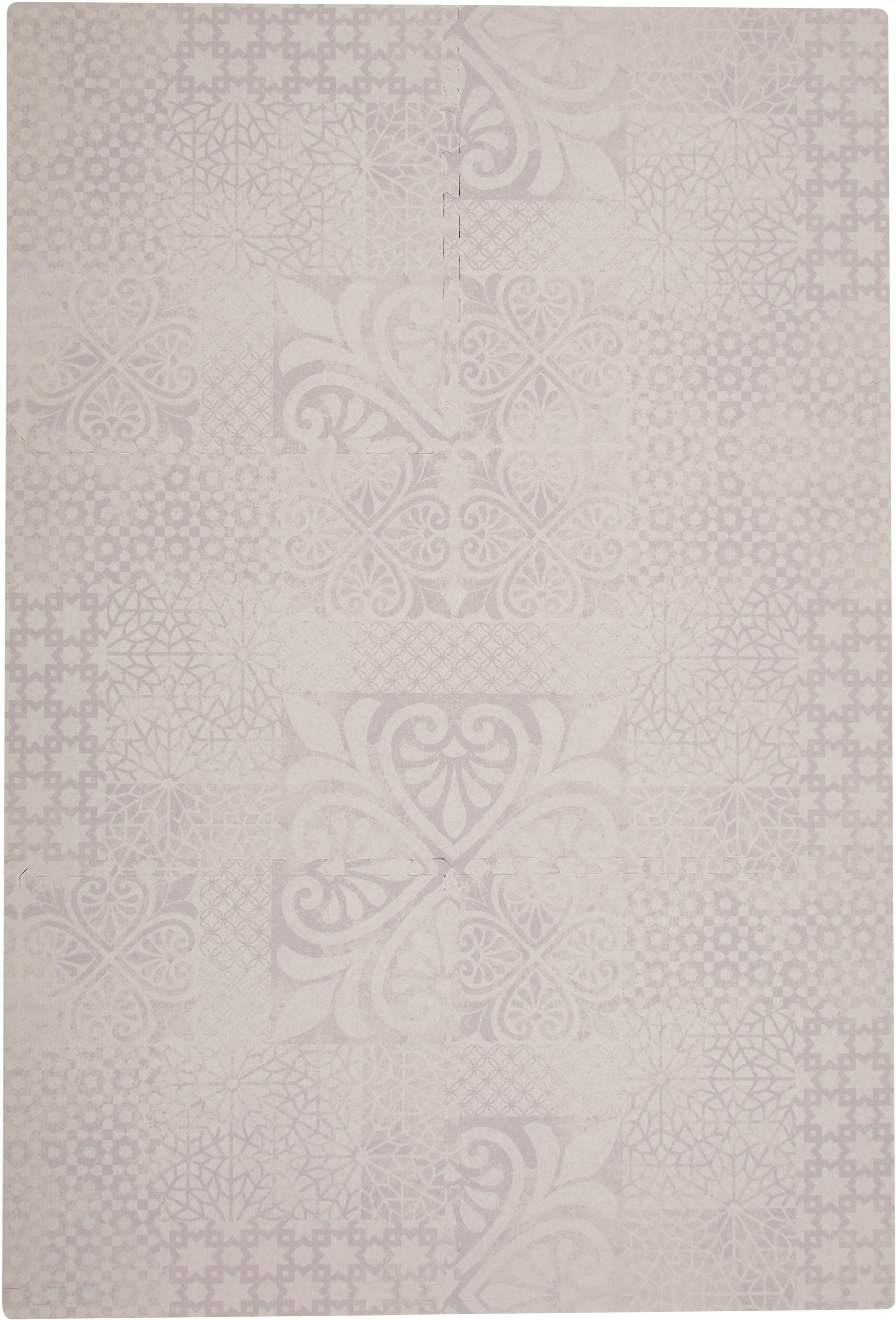 Set tappetino da gioco persiano, 18 pz, Schiuma (EVAC), priva di sostanze inquinanti, Beige, Larg. 120 x Lung. 180 cm