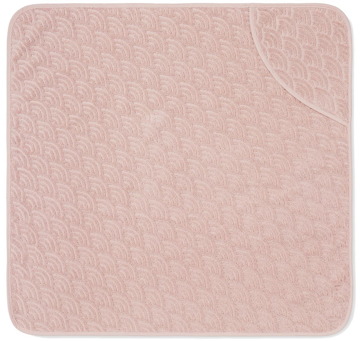 Asciugamano per bambini in cotone organico Wave, Cotone organico, certificato GOTS, Rosa, Larg. 80 x Lung. 80 cm