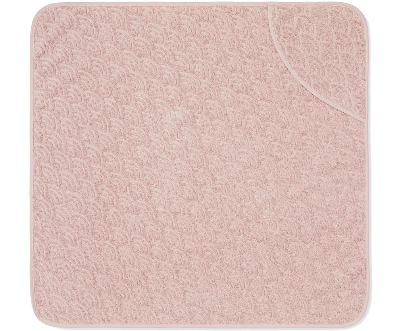Baby-Badetuch Wave aus Bio-Baumwolle, Bio-Baumwolle, GOTS-zertifiziert, Rosa, 80 x 80 cm