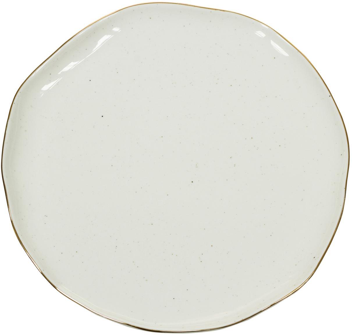 Piattino da dessert fatto a mano Bol 2 pz, Porcellana, Bianco crema, Ø 19 x Alt. 3 cm