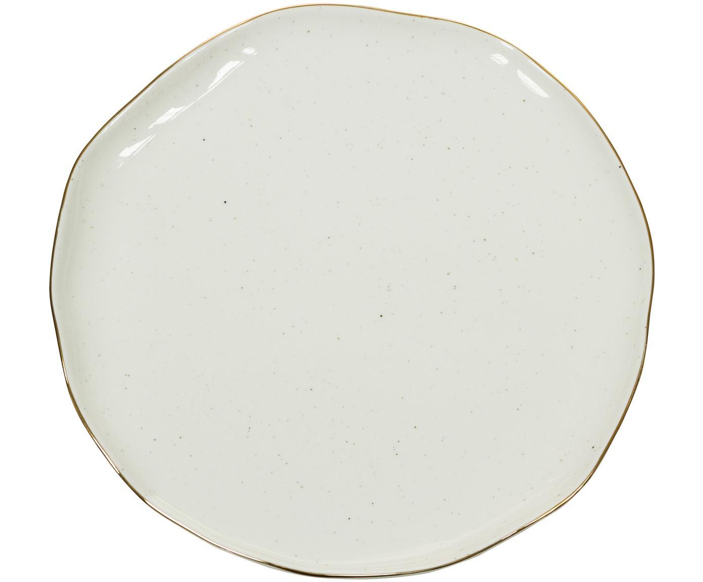 Ręcznie wykonany talerz śniadaniowy Bol, 2 szt., Porcelana, Kremowobiały, Ø 19 x W 3 cm