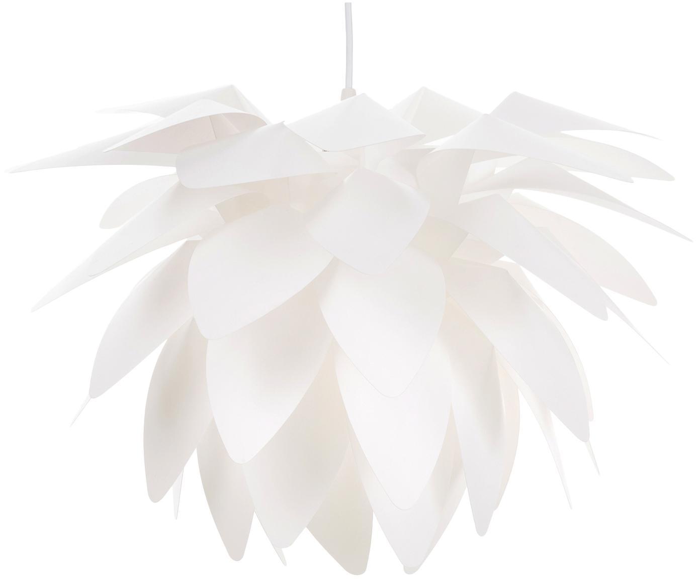 Lampa wisząca do montażu Cactus, Tworzywo sztuczne, Biały, Ø 43 x 41 cm