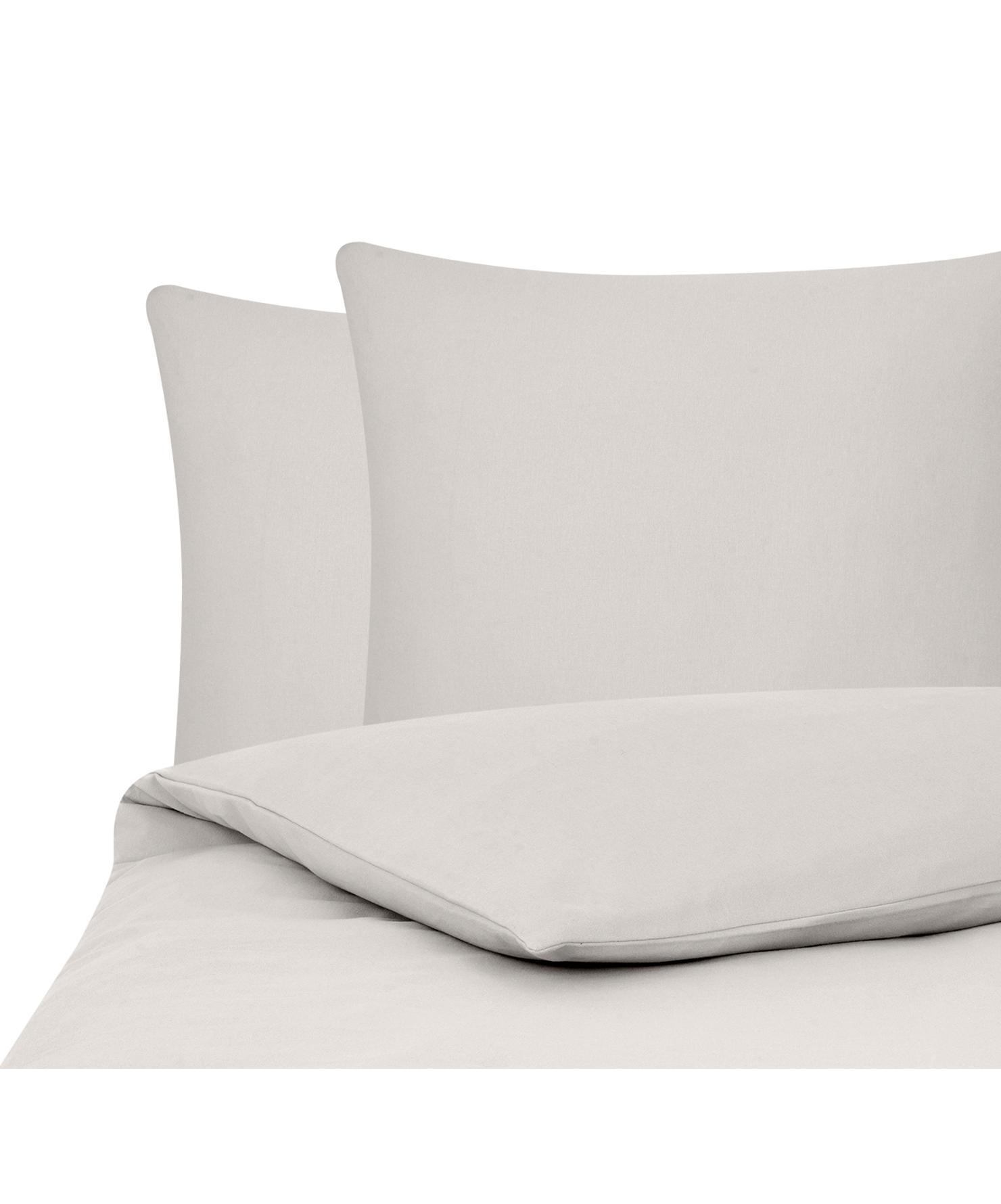 Flanell-Bettwäsche Biba in Beige, Webart: Flanell Flanell ist ein s, Taupe, 200 x 200 cm + 2 Kissen 80 x 80 cm