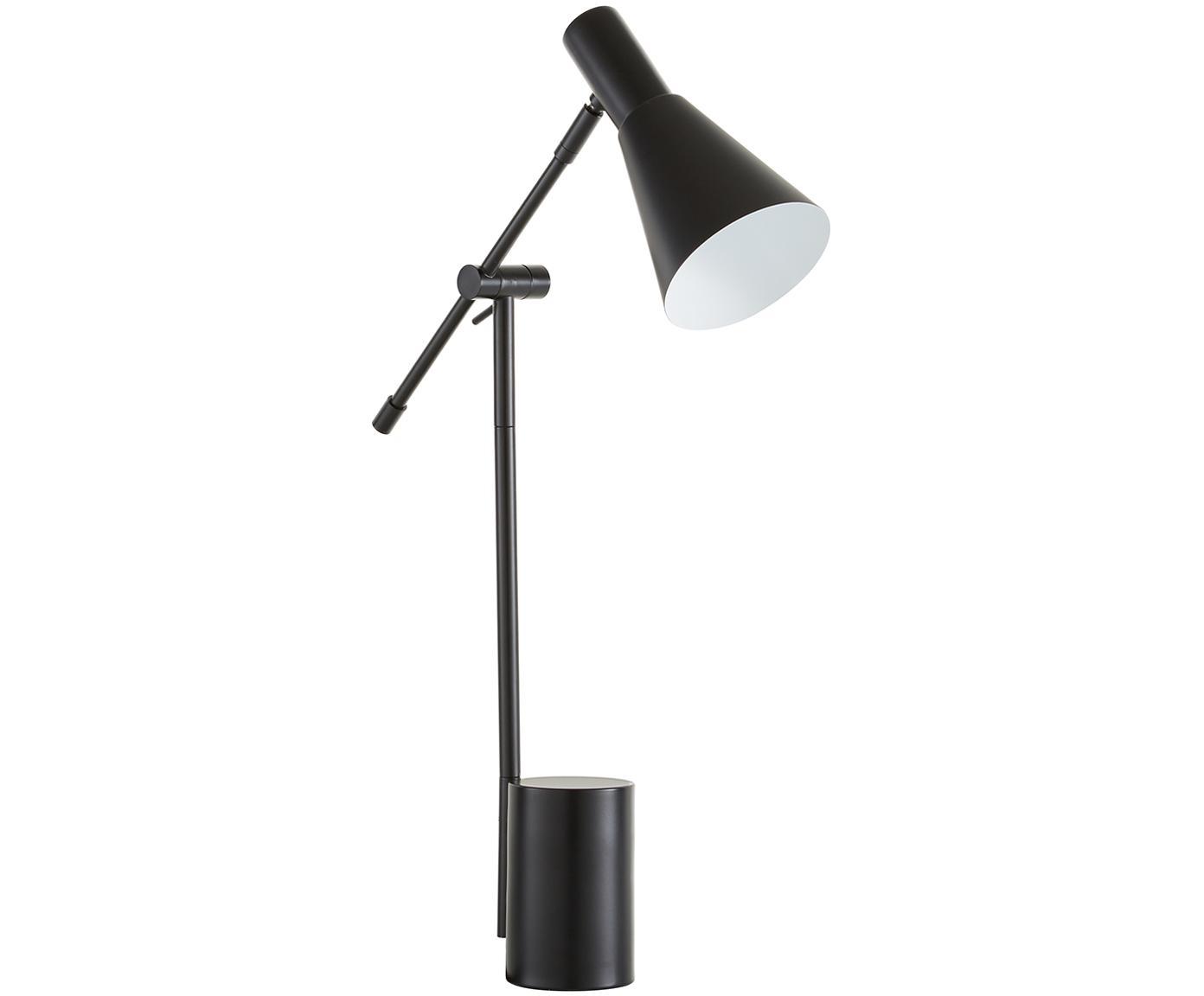 Lámpara de mesa Sia, Pantalla: metal con pintura en polv, Cable: cubierto en tela, Negro, An 13 x Al 63 cm