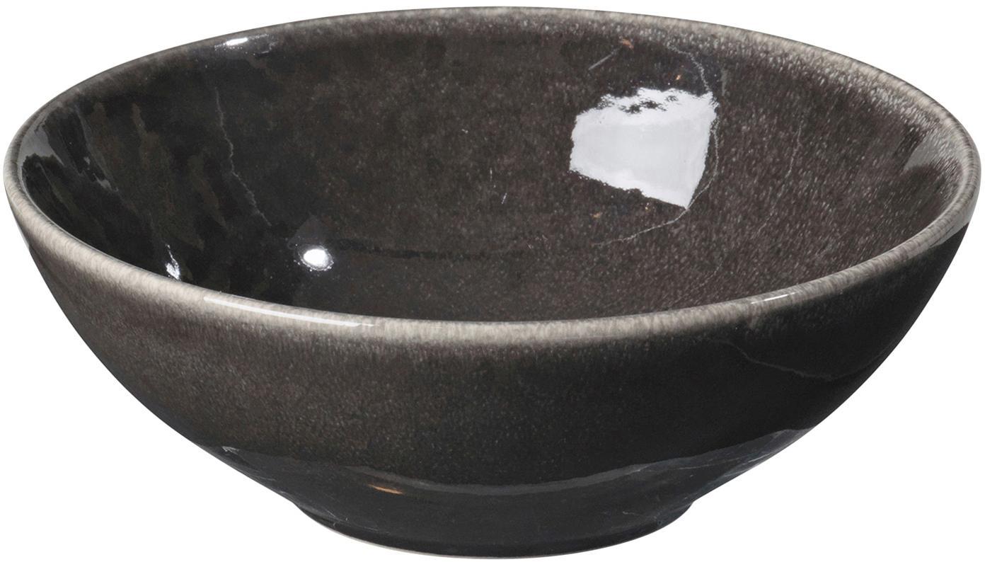 Ręcznie wykonana miska z kamionki Nordic Coal, 4 szt., Kamionka, Brązowy, Ø 17 x 6 cm
