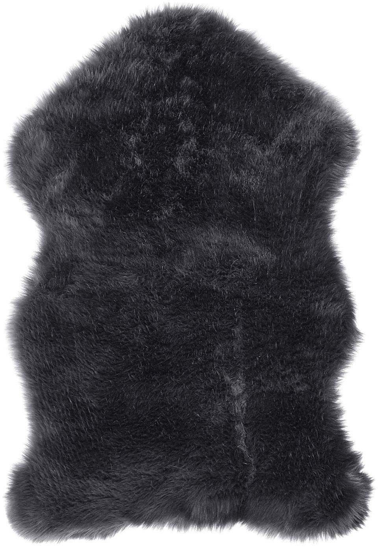 Kunstvacht Mathilde, glad, Bovenzijde: 65% acryl, 35% polyester, Onderzijde: 100% polyester, Donkergrijs, 60 x 90 cm