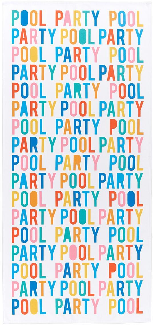 Leichtes Strandtuch Swim mit bunter Aufschrift, 55% Polyester, 45% Baumwolle Sehr leichte Qualität, 340 g/m², Mehrfarbig, 70 x 150 cm