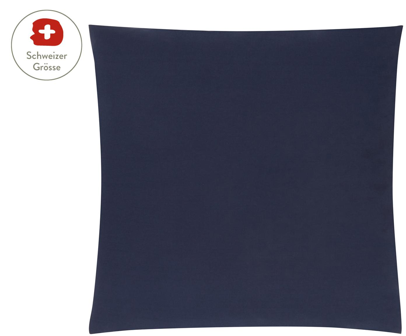 Baumwollperkal-Kissenbezug Elsie in Dunkelblau, Webart: Perkal Fadendichte 200 TC, Dunkelblau, 65 x 65 cm