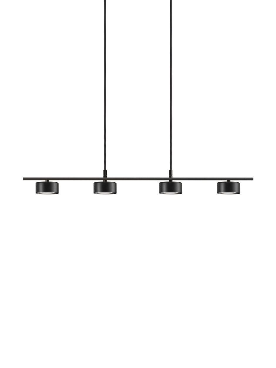 Lampada a sospensione a LED Clyde, Paralume: metallo rivestito, Struttura: metallo rivestito, Baldacchino: metallo rivestito, Nero, Larg. 115 x Alt. 210 cm