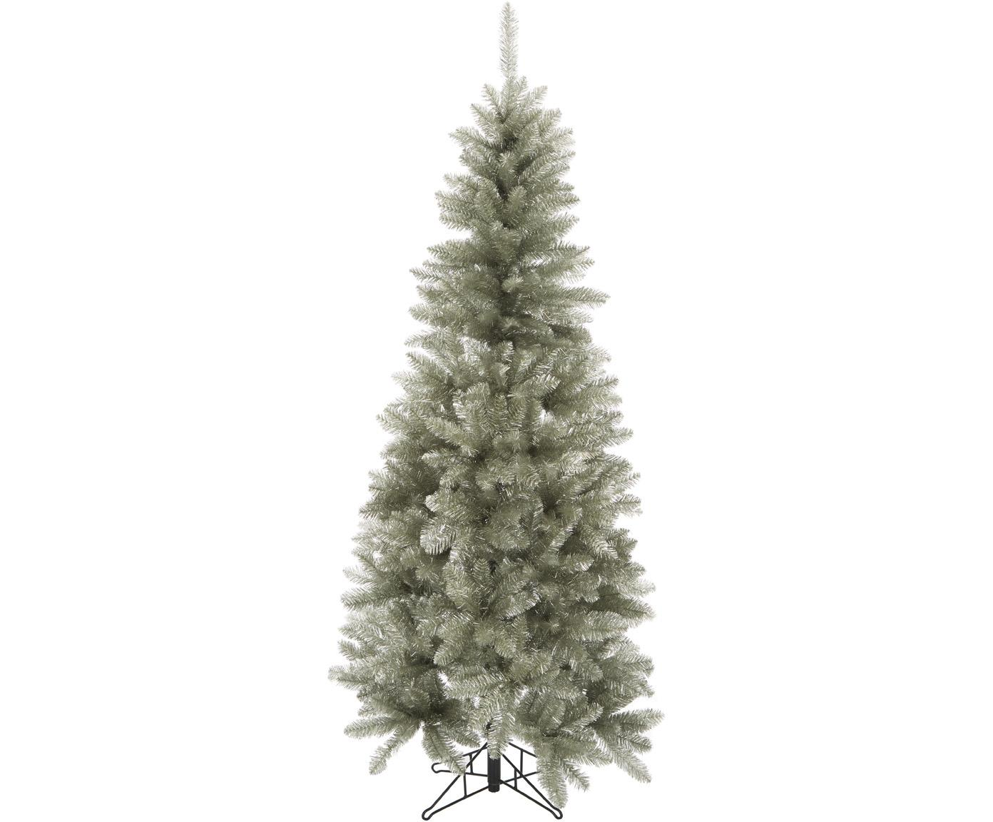 Decoratieve kerstboom Colchester, Kunststof (PVC), Platinakleurigkleurig, Ø 84 x H 185 cm