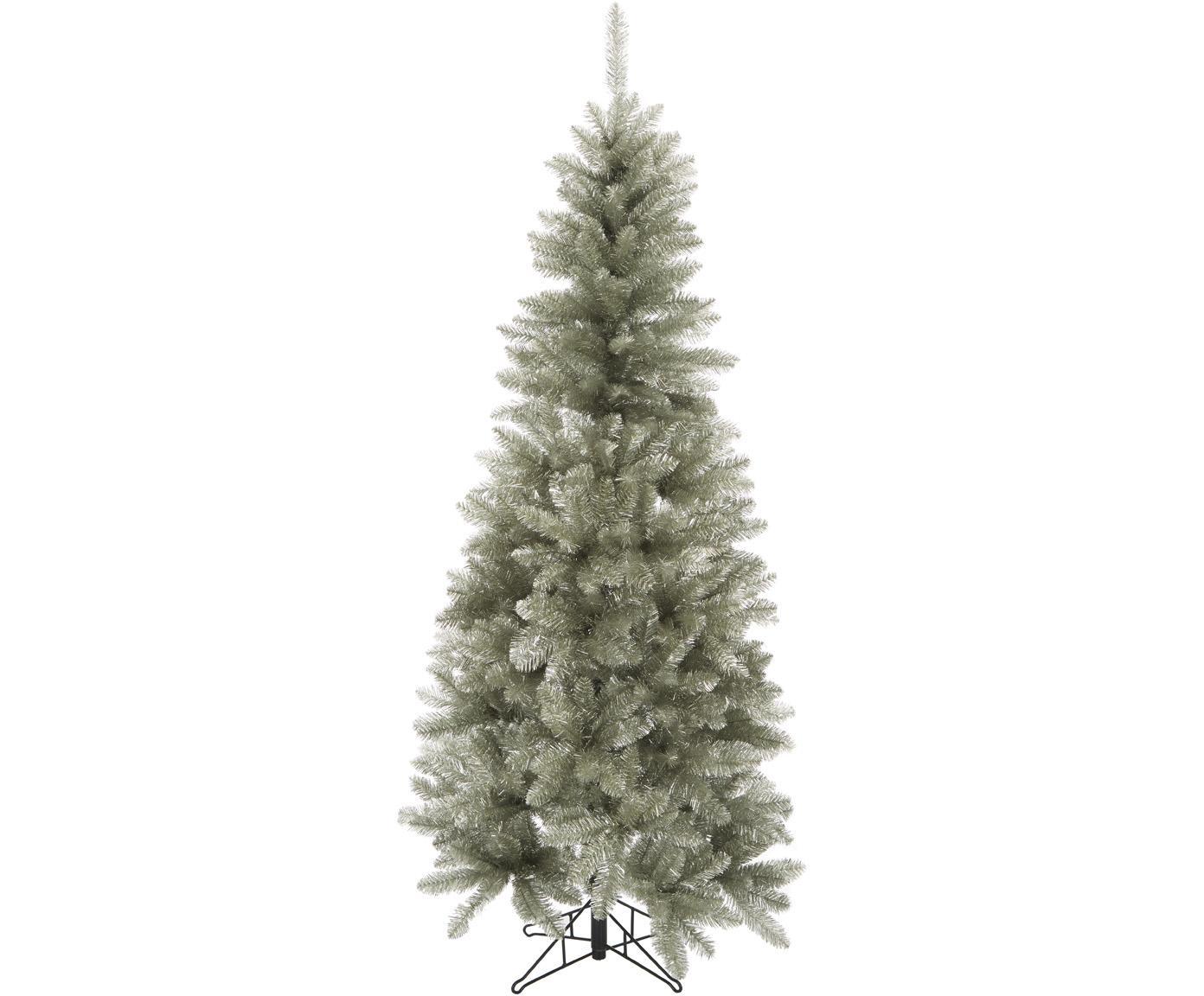 Künstlicher Weihnachtsbaum Colchester, Kunststoff (PVC), Platinfarben, Ø 84 x H 185 cm